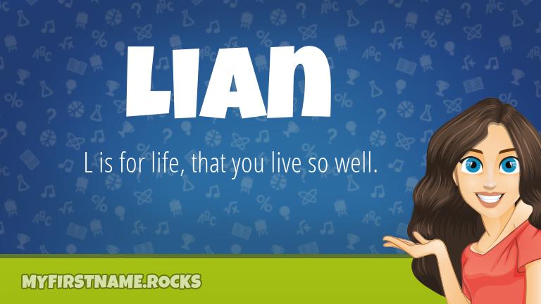 My First Name Lian Rocks!