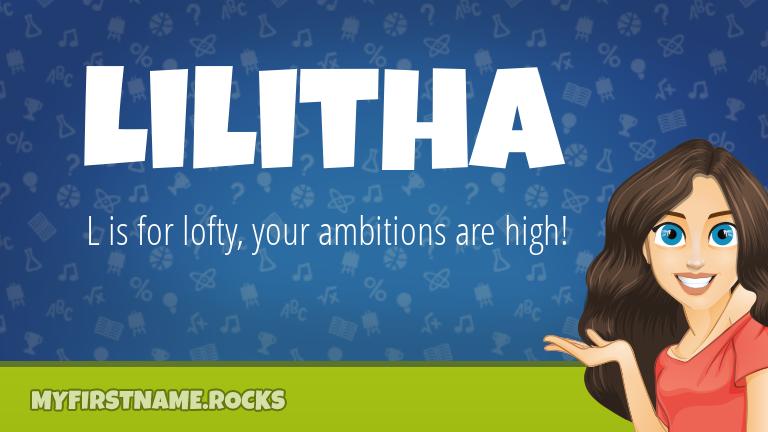 My First Name Lilitha Rocks!