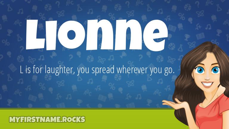 My First Name Lionne Rocks!
