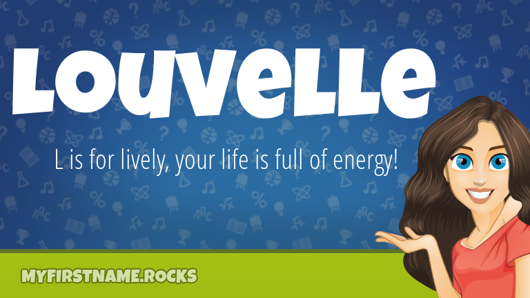 My First Name Louvelle Rocks!