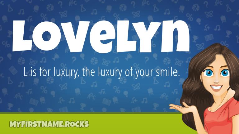 My First Name Lovelyn Rocks!