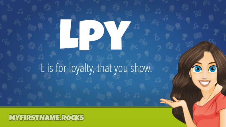 My First Name Lpy Rocks!
