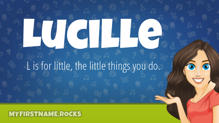 My First Name Lucille Rocks!