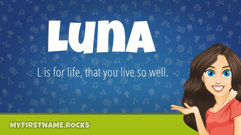 My First Name Luna Rocks!