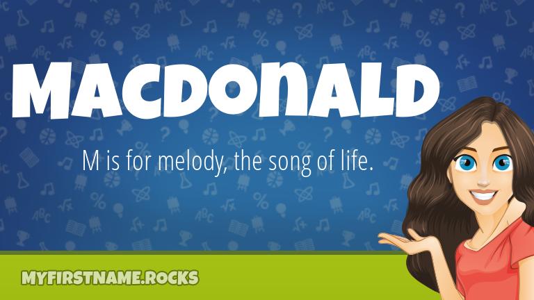 My First Name Macdonald Rocks!