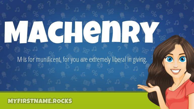 My First Name Machenry Rocks!