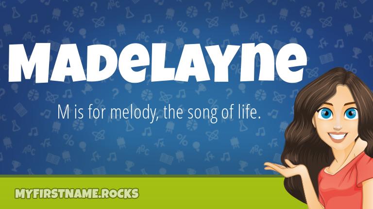 My First Name Madelayne Rocks!