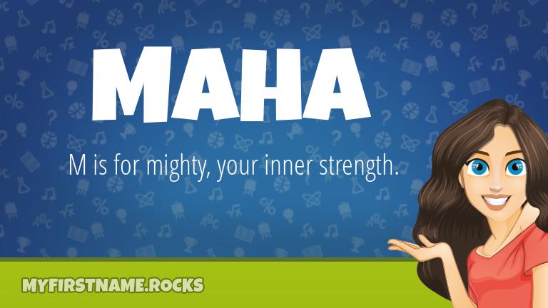 My First Name Maha Rocks!