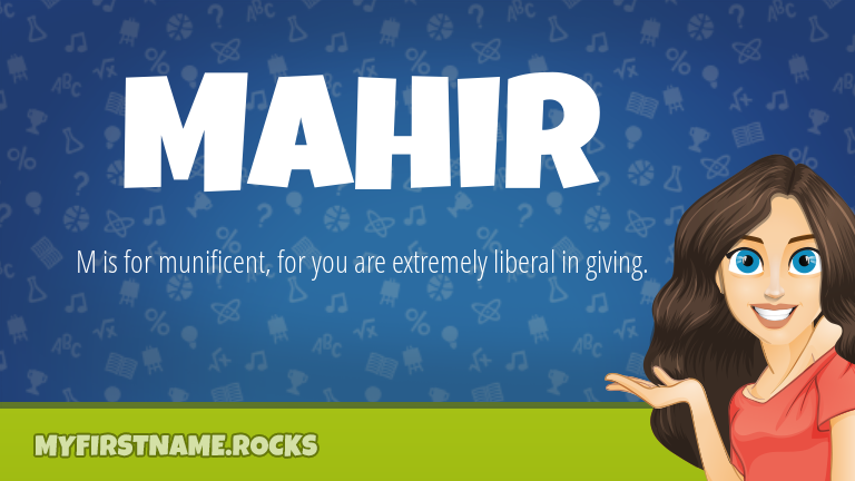 My First Name Mahir Rocks!