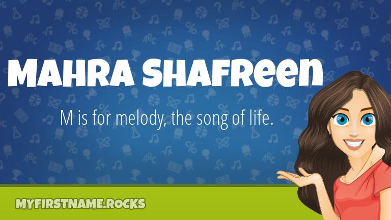 My First Name Mahra Shafreen Rocks!