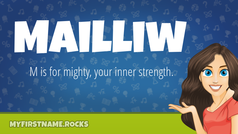 My First Name Mailliw Rocks!