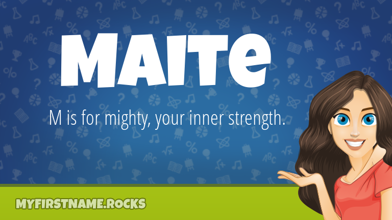 My First Name Maite Rocks!