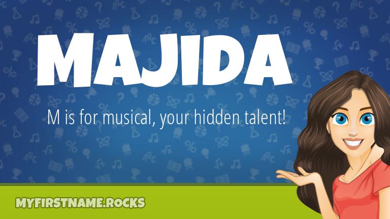 My First Name Majida Rocks!