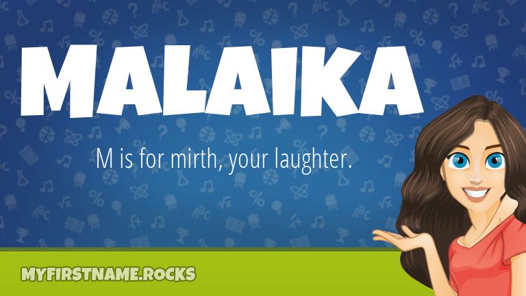 My First Name Malaika Rocks!