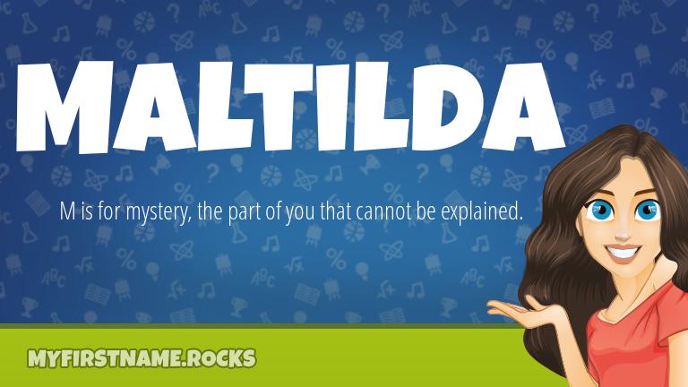 My First Name Maltilda Rocks!