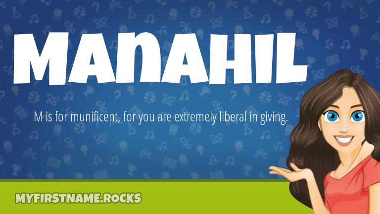My First Name Manahil Rocks!