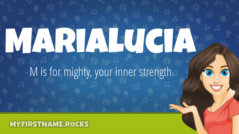 My First Name Marialucia Rocks!