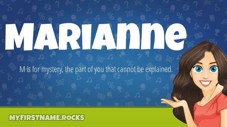 My First Name Marianne Rocks!
