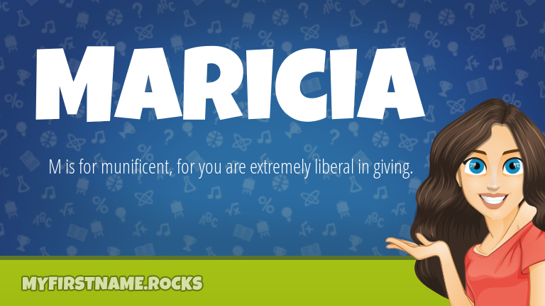 My First Name Maricia Rocks!