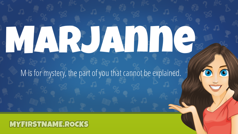 My First Name Marjanne Rocks!