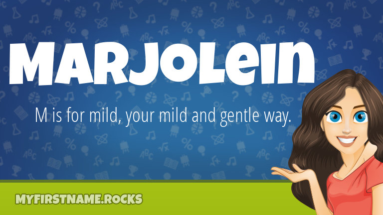 My First Name Marjolein Rocks!
