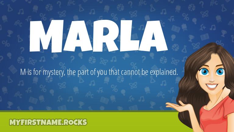 My First Name Marla Rocks!