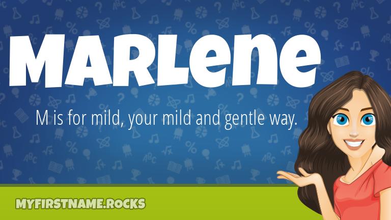 My First Name Marlene Rocks!