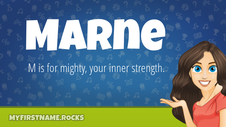 My First Name Marne Rocks!