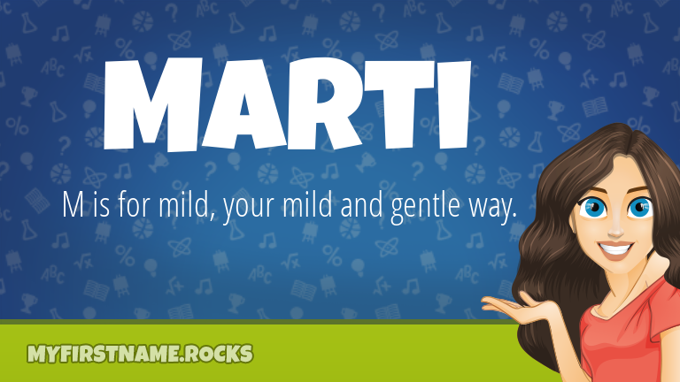 My First Name Marti Rocks!