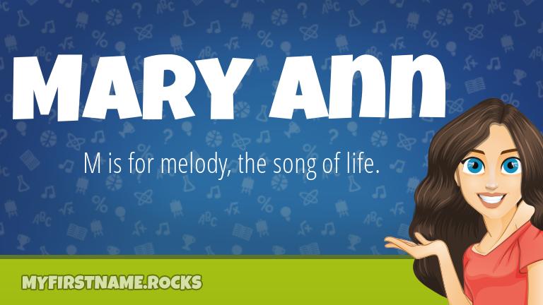 My First Name Mary Ann Rocks!
