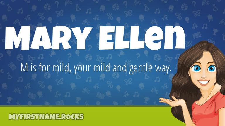 My First Name Mary Ellen Rocks!