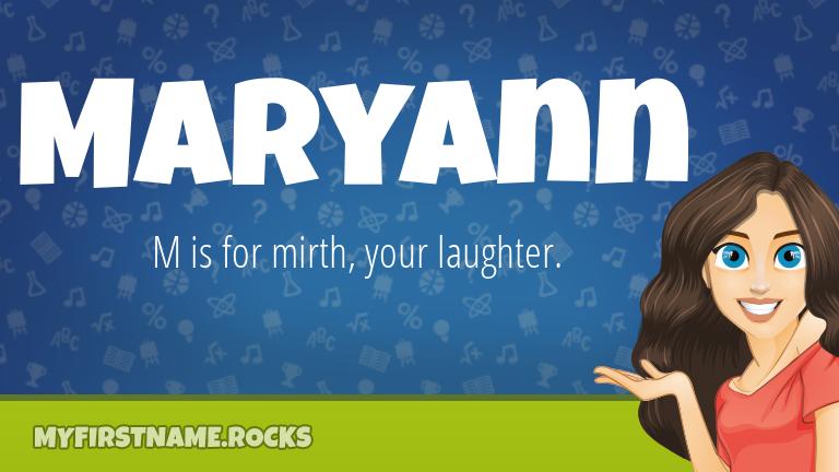 My First Name Maryann Rocks!