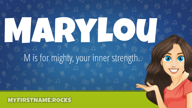 My First Name Marylou Rocks!