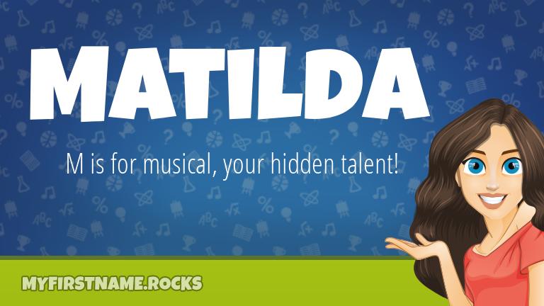 My First Name Matilda Rocks!