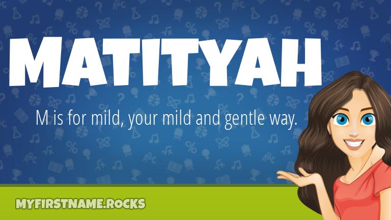 My First Name Matityah Rocks!
