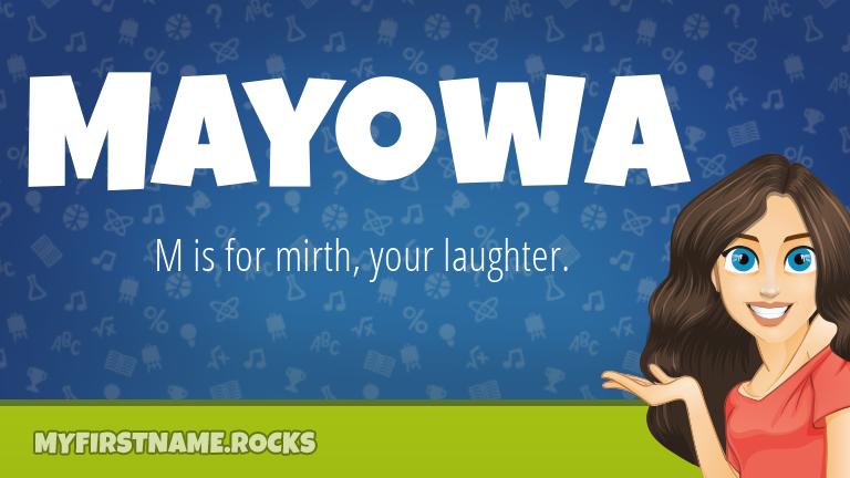 My First Name Mayowa Rocks!