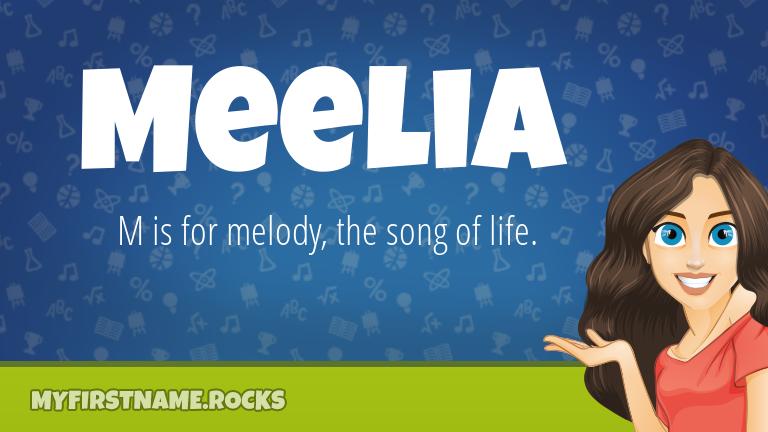 My First Name Meelia Rocks!