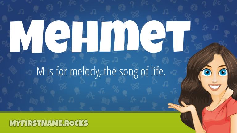 My First Name Mehmet Rocks!
