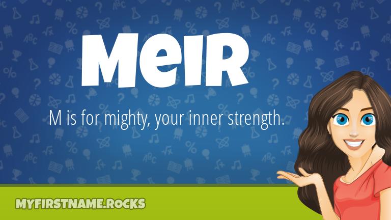 My First Name Meir Rocks!