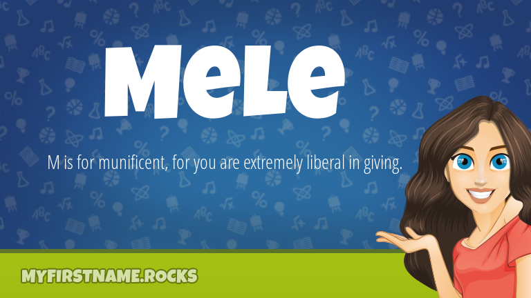 My First Name Mele Rocks!