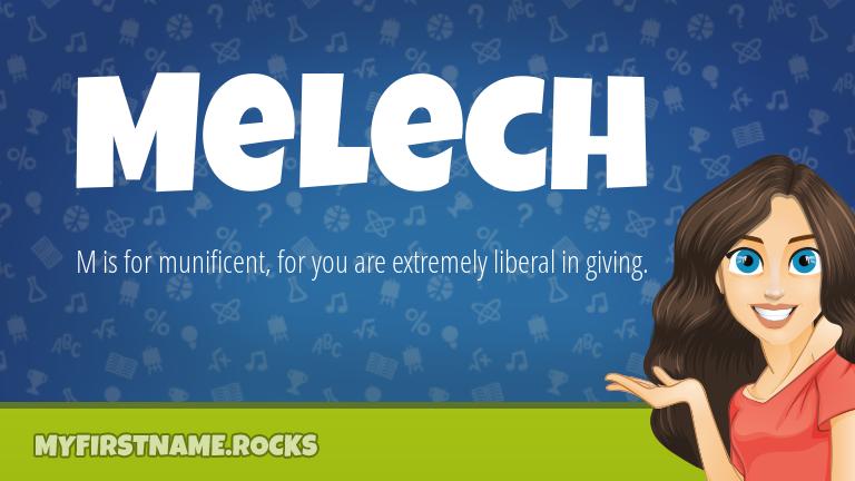My First Name Melech Rocks!