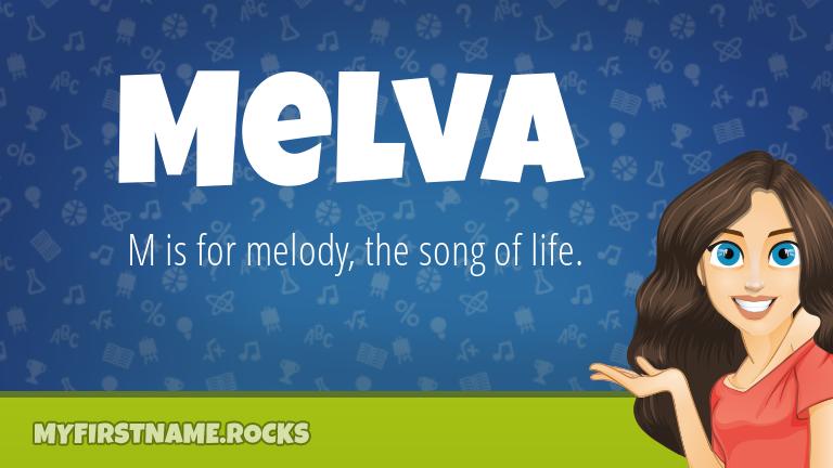 My First Name Melva Rocks!