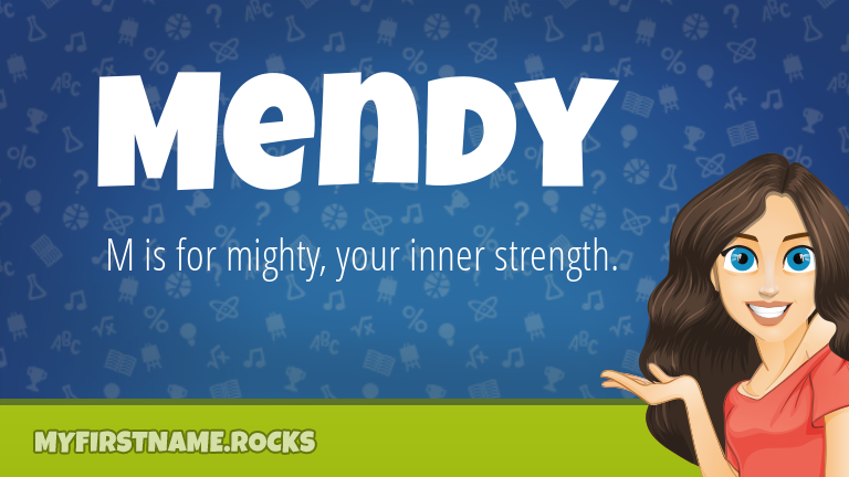 My First Name Mendy Rocks!