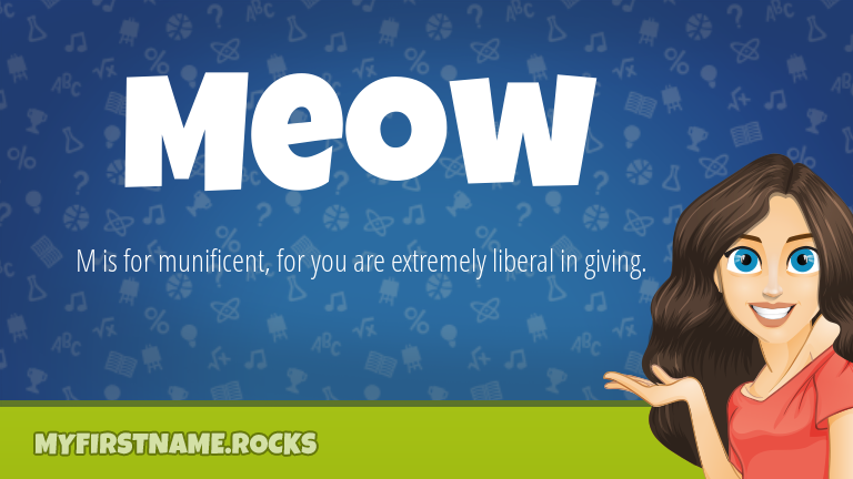 My First Name Meow Rocks!