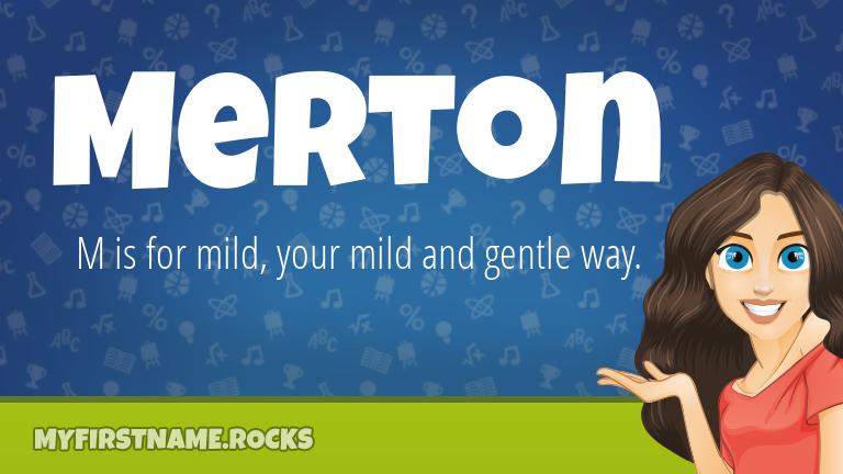 My First Name Merton Rocks!