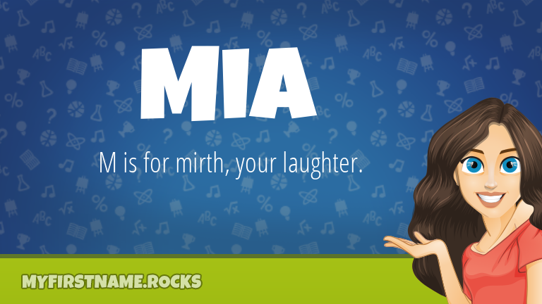 My First Name Mia Rocks!