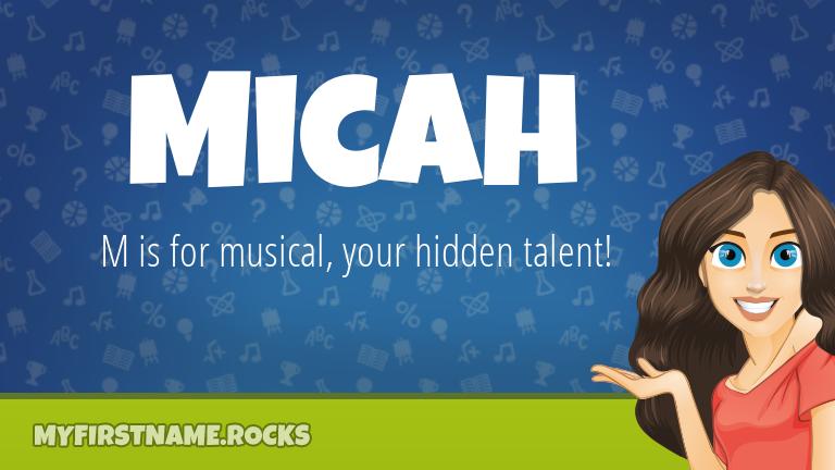 My First Name Micah Rocks!