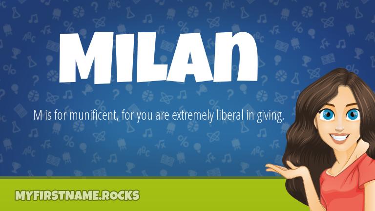My First Name Milan Rocks!