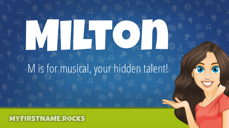 My First Name Milton Rocks!
