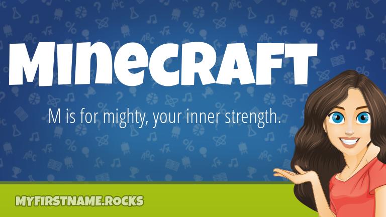 My First Name Minecraft Rocks!